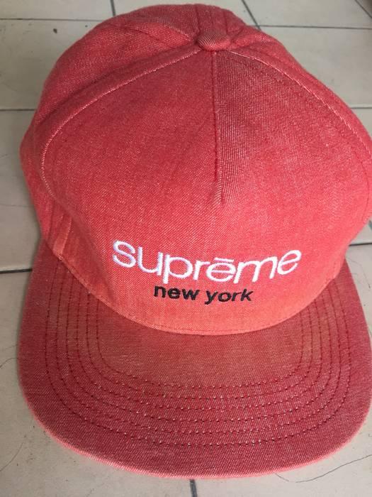 "13f7d3cfa3e Supreme Rare Authentic Supreme Starter ""New York"" Snapback SS13 Hat Snap  Button Dusty"