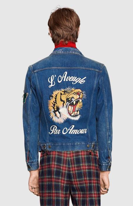 f1c8326e8ef0 Gucci Embroidered Denim Jacket Size s - Denim Jackets for Sale - Grailed