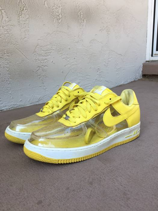 Nike Clear   Yellow Nike Air Force Ones Size 11.5 - Low-Top Sneakers ... 1a3b3794e