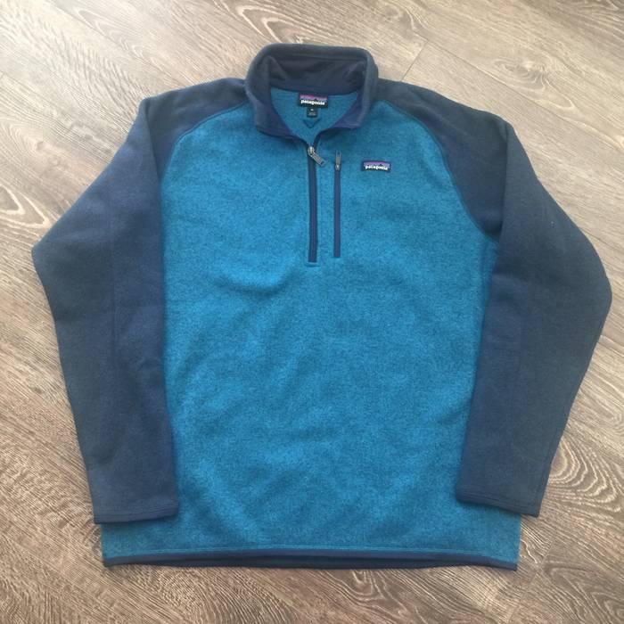 37e3c4d9bd7 Patagonia Patagonia Better Sweater Blue   Aqua   Navy Quarter Zip ...