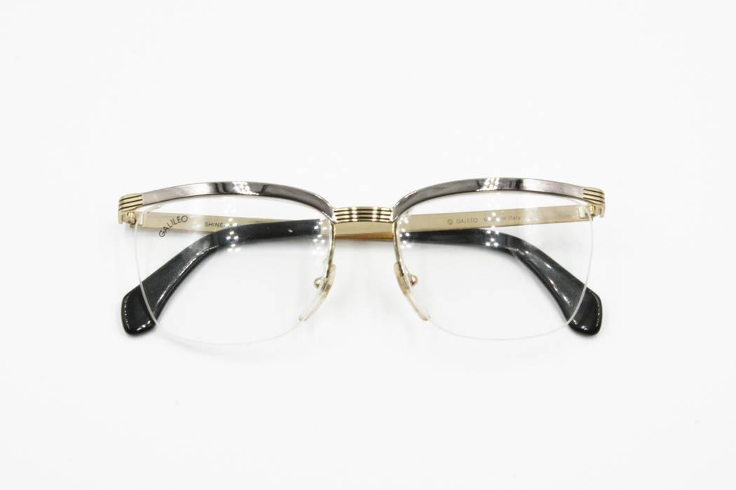 728ef540fa3 Vintage GALILEO Vintage frame browline glasses Golden   Silver metallized