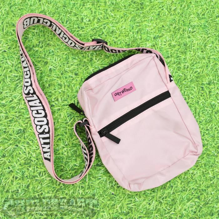 Hype DS ASSC Anti Social Social Club Pink Shoulder Side Bag Supreme bape off  white d891f3af6122e