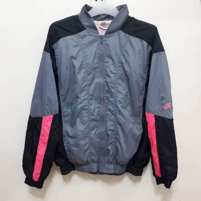 e4cda3365f18 Nike Vtg 90s Nike Jacket Sweater Windbreaker Colorblock Swoosh Spellout  Retro Sport Track Old School Sz