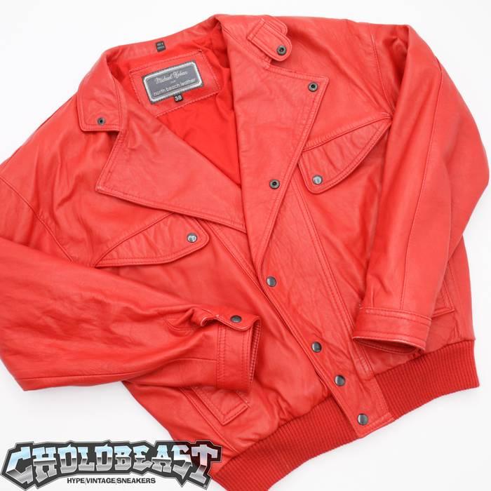 1e96869c76 Vintage VTG 80s 90s Michael Hoban Vibrant Red Leather Jacket Sz M Michael  jackson Billie Jean