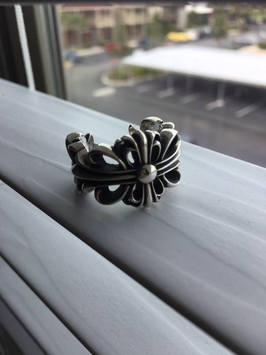1f5d306d8a3 Chrome Hearts Double Floral Cross Ring Size one size - Jewelry ...