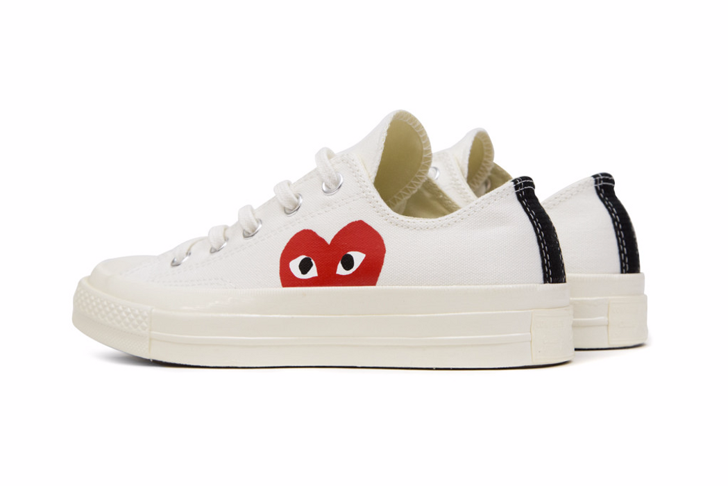ccf0c2fe1b98 Comme Des Garcons Play CDG x Converse 70s Low (White) Size 8 - Low ...