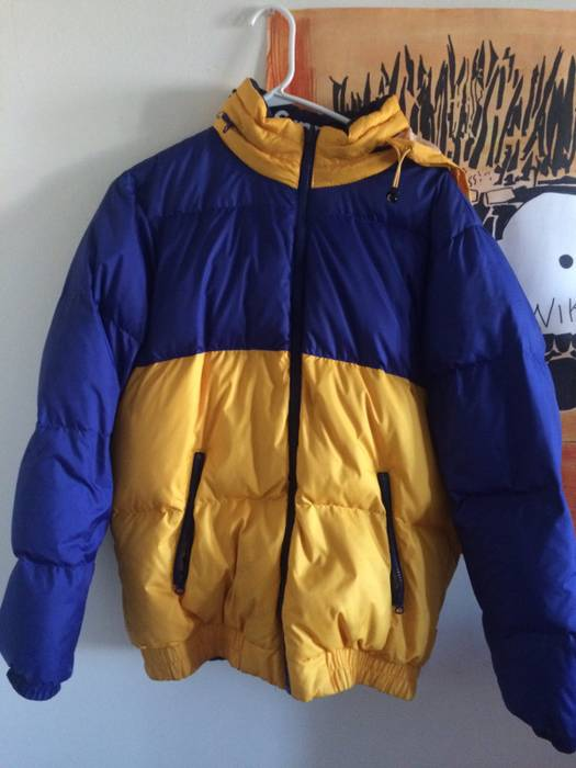 Supreme Reversible Puffy Jacket Yellow Blue Size Us M Eu 48 50
