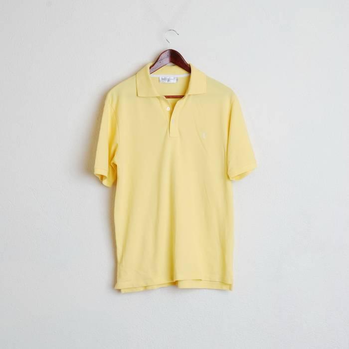 7a0dd034 Ysl Pour Homme YSL Yves Saint Laurent Paris Yellow Polo Shirt Short Sleeve  Cotton M #