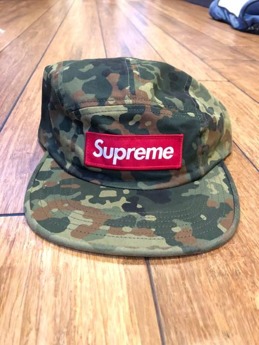 Supreme Supreme Military Camp Cap Hat Olive German Green Camo Size ONE SIZE 0c5fff240c3