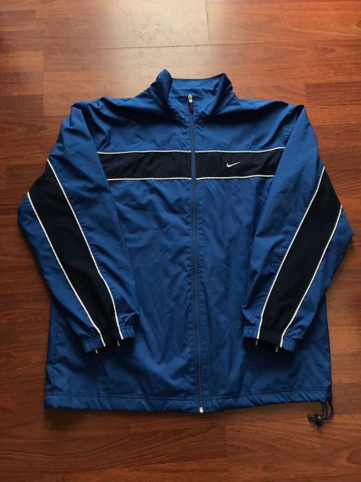 12fd53b24274 Nike Vintage 90s Nike Windbreaker Embroidered Swoosh Logo Back Front- Royal  Blue   Navy