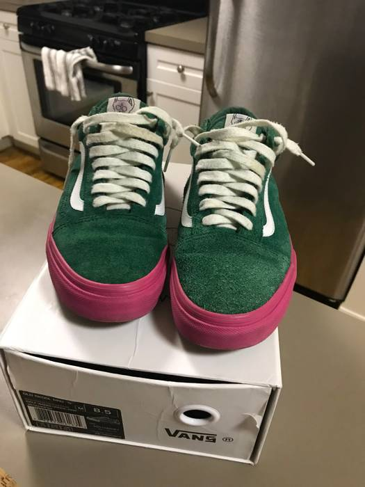 "e27a63f5450a Vans Old Skool Pro ""S"" Golf Wang Green And Pink Size 8.5 - Low-Top ..."