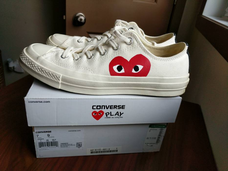 9313f53bf87f Converse Converse X CDG low-cut cream Size 7 - Low-Top Sneakers for ...