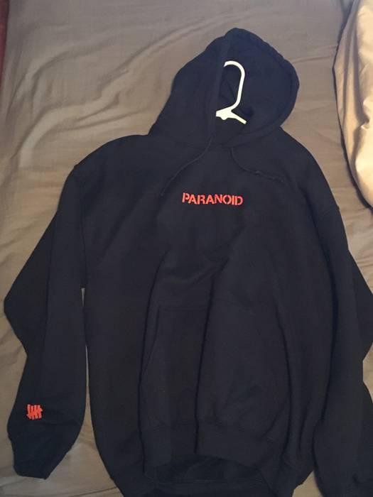 6f4157c3726d Antisocial Social Club Paranoid Orange Black Hoodie Size US L   EU 52-54