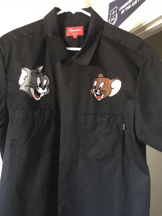 8a68f51550c09 Supreme Tom   Jerry Supreme Short Sleeve Button Up Size l - Shirts ...
