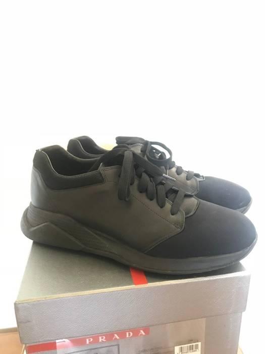 Prada Prada Sport Neoprene   Leather Shoes  Calzature Uomo  Size 10 ... dc580215991