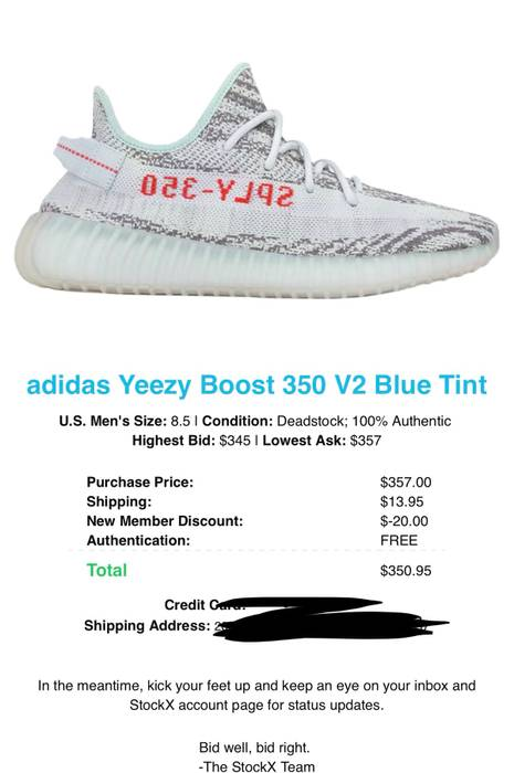 """cf063eb33 Yeezy Boost Yeezy Boost 350 V2 """"Blue Tint"""" Size 8.5 - Low-Top ..."""