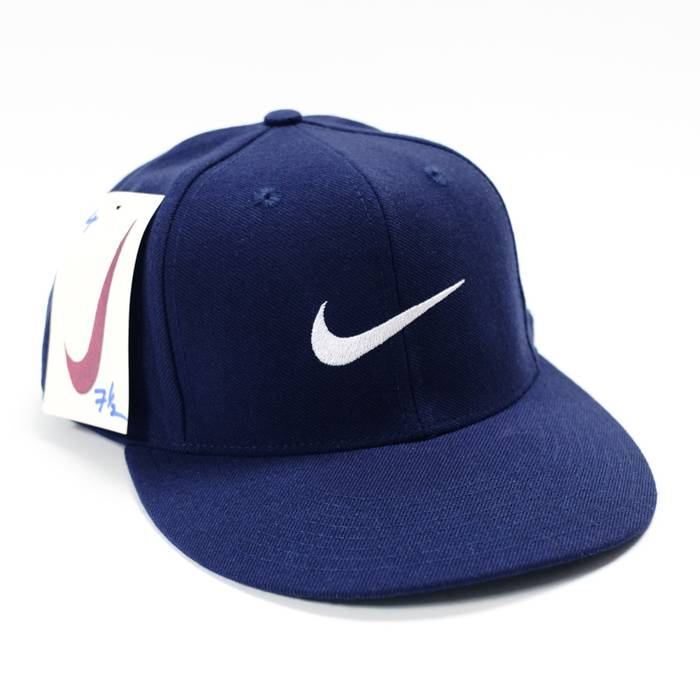 Nike Vintage Nike White Tag Swoosh Fitted Hat 7 1 2 7 5 8 Deadstock ... d019142c856