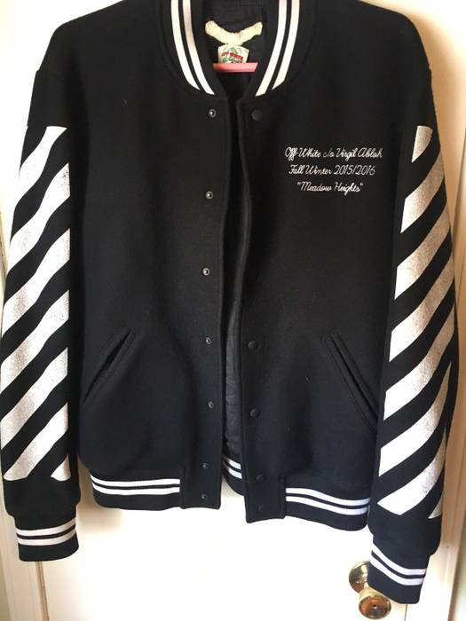 e00399ece441 Off-White Offwhite fw15 16 Meadow Heights Varsity Jacket Size US S   EU