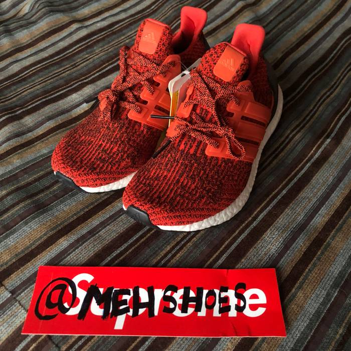 757ff856e Adidas Adidas Ultra Boost 3.0 Energy Red S80635 Sample Size 9 - Low ...