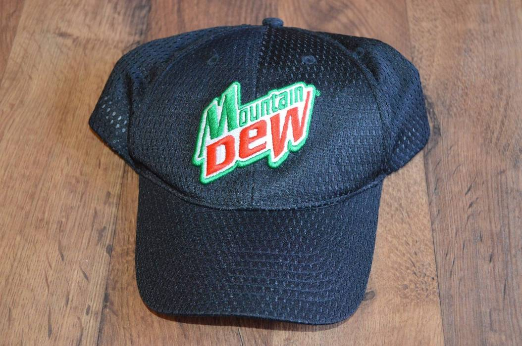 Vintage Vintage Mountain Dew Adjustable Spell Out Hat Black Size ONE SIZE f46c4cf7f07