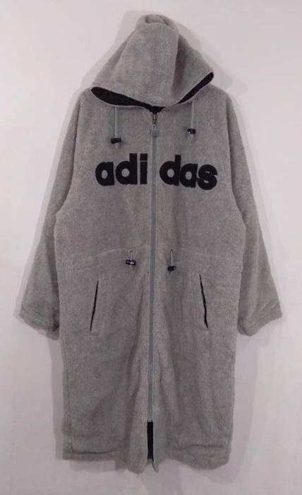 Adidas Adidas Long Fleece Jacket Big Logo Hoodie. Not Nike Puma Kappa Tommy  Hilfiger Supreme dc2927084c
