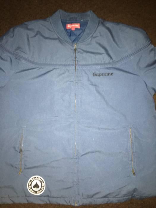 e6f6ae767e54 Supreme Supreme X Thrasher Navy Blue Poppin Jacket Size US L   EU 52-54
