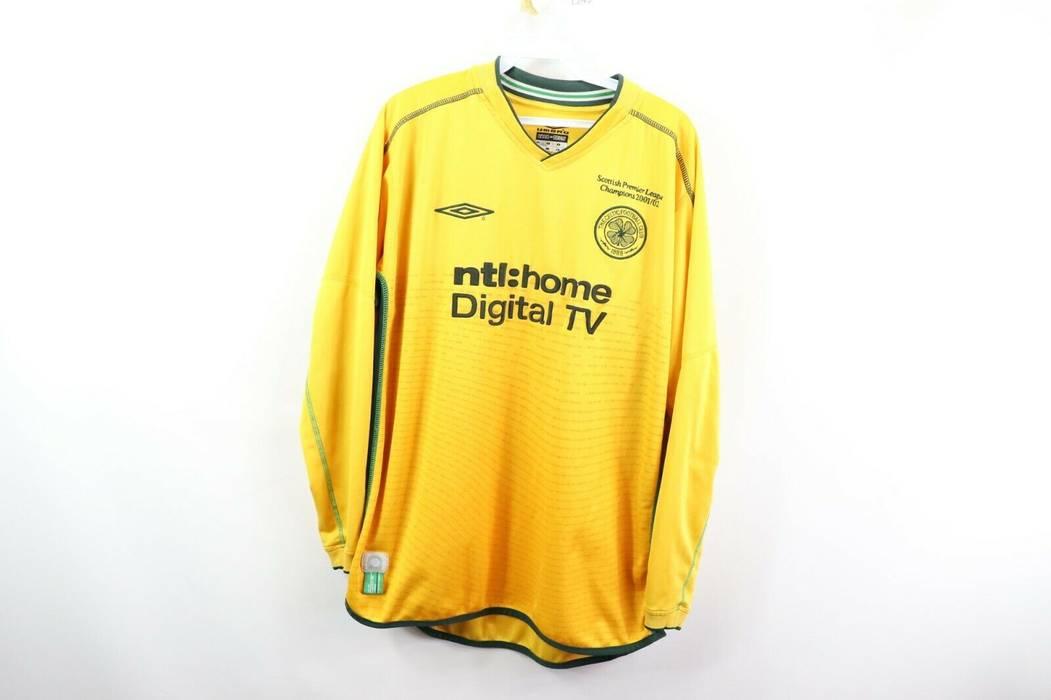 fb05631eb Vintage Vintage Umbro Mens Large Celtic FC 02 03 Long Sleeve Soccer Jersey  Kit Yellow