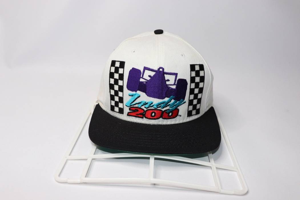 57846512a45a4 ... best price vintage vintage 90s walt disney world indy 200 racing spell  out snapback hat cap