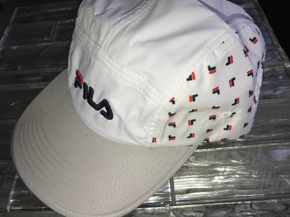 6ad16b1e324 Fila New 5 Panel Camper All Over Print Polyester Gray White Size ONE SIZE -