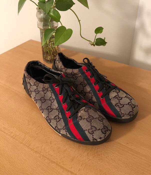 22822fba000 Gucci Monogram Sneaker With Leather Interior Size 10 - Low-Top ...