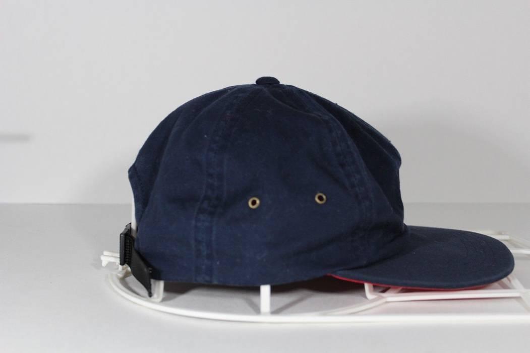 Vintage Vintage 90s TOMMY HILFIGER Big Flag Logo Spell Out Strapback Hat Cap  Navy Blue Size 68c7cb8e10ac