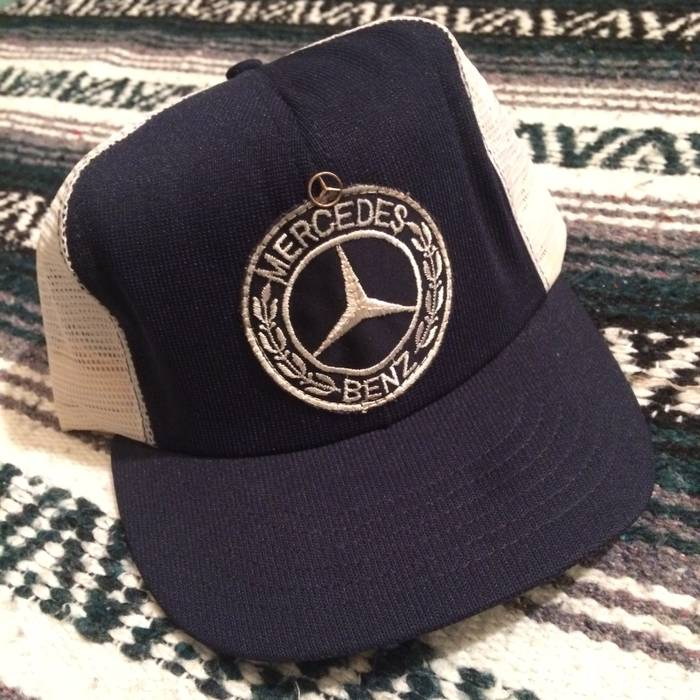 Vintage Vintage 70s 80s Mercedes Benz Snapback Mesh Trucker Hat One Size  Adjustable USA Made Size 303a373d3da