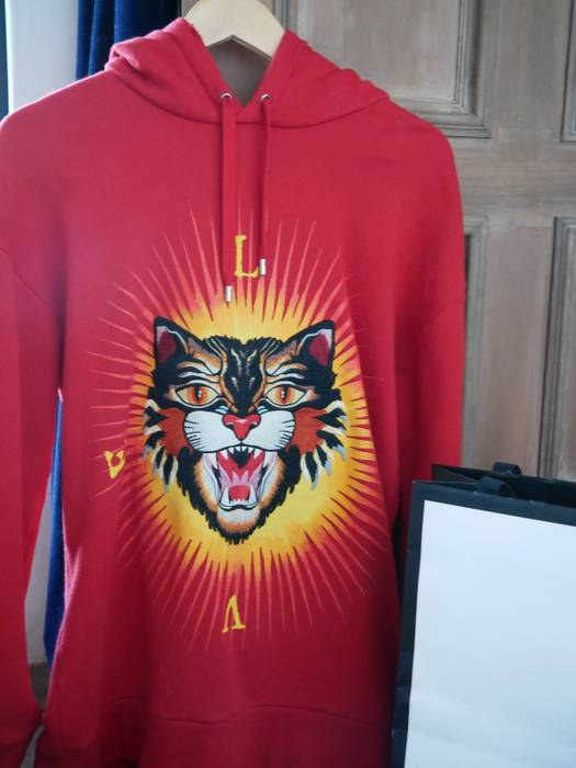 31dffe909fa Gucci Angry cat appliqué Hoody Size s - Sweatshirts   Hoodies for ...