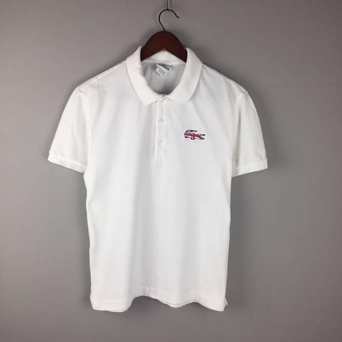 47bf5b13637bd4 Lacoste lacoste UK flag white cotton polo shirt PH9501 Size xl ...