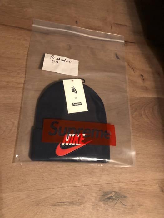 Supreme Supreme x Nike Beanie Navy fw18 Size one size - Hats for ... 85c5a8a1c638
