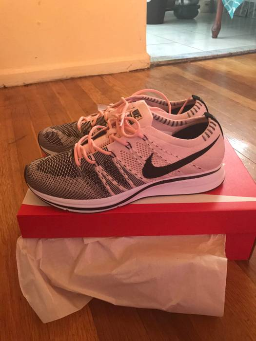 e33298029e9e Nike Flyknit Trainer Sunset Tint Black-White Size 8.5 - Low-Top ...