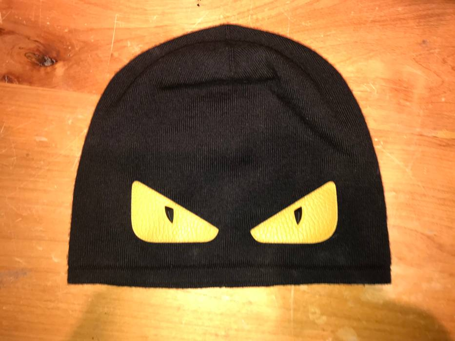db7b7f11962 Fendi Black Monster Eyes Beanie Size one size - Hats for Sale - Grailed