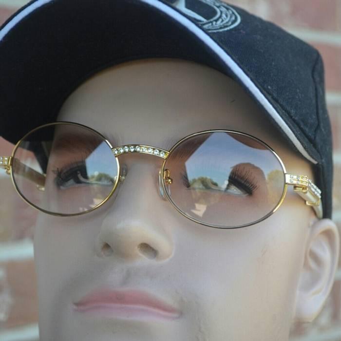 8f67a785d42 Cartier Custom Vintage Diamond Cartier Buffalo Sunglasses Size ONE SIZE - 6