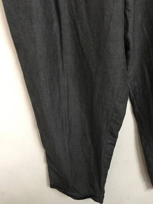 8fdb6c6542a7 Designer GIORGIO ARMANI Made in Italy 50% Linen 50% Rayon Broad Baggy Wide  Grey