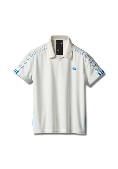 92e593f023198 Adidas Adidas Originals by Alexander Wang Velour Polo in White Size Medium  Size US M