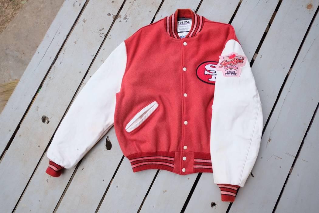 f90b425f2 Vintage Rare!! vintage NFL San Francisco 49ers varsity jacket Size US L   EU