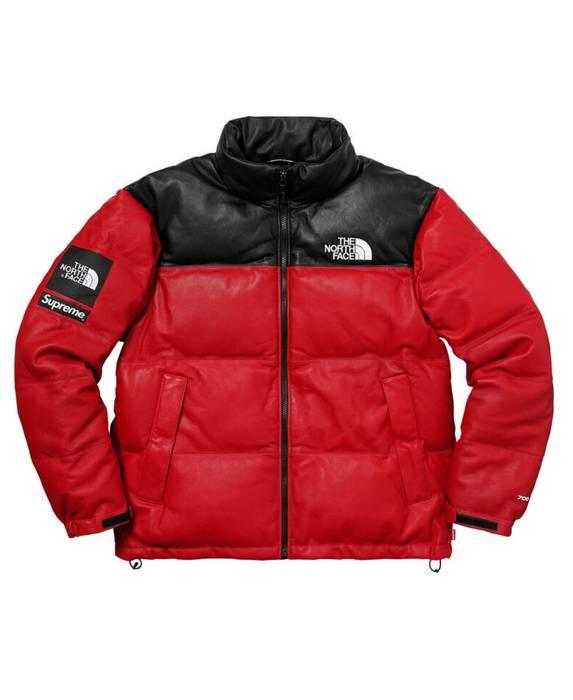 Supreme Supreme The North Face Leather Nuptse Jacket Size US L   EU 52- bb19013ee