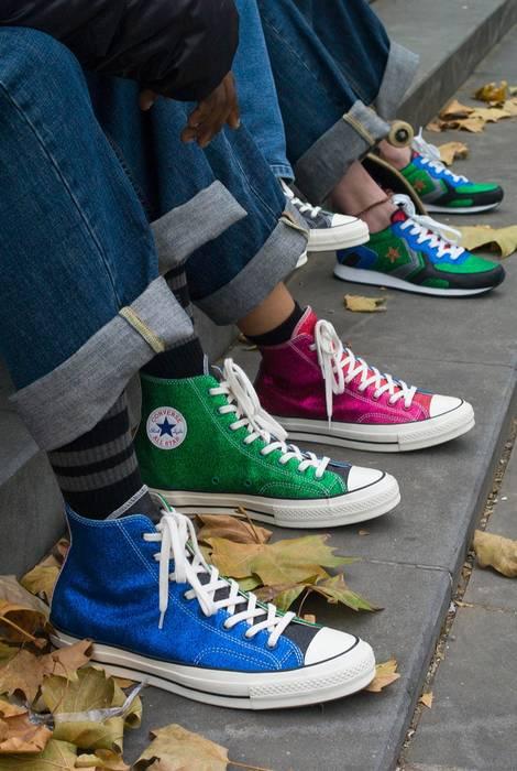 05155a800397 Converse JW Anderson Glitter Converse Blue Green Size 10 - Hi-Top ...