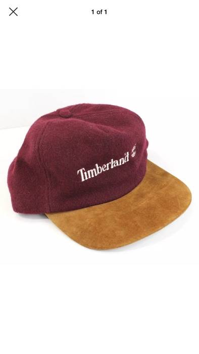 ecab358d964 Timberland Vintage Timberland Wool Suede Leather Strapback Hat Size ONE SIZE