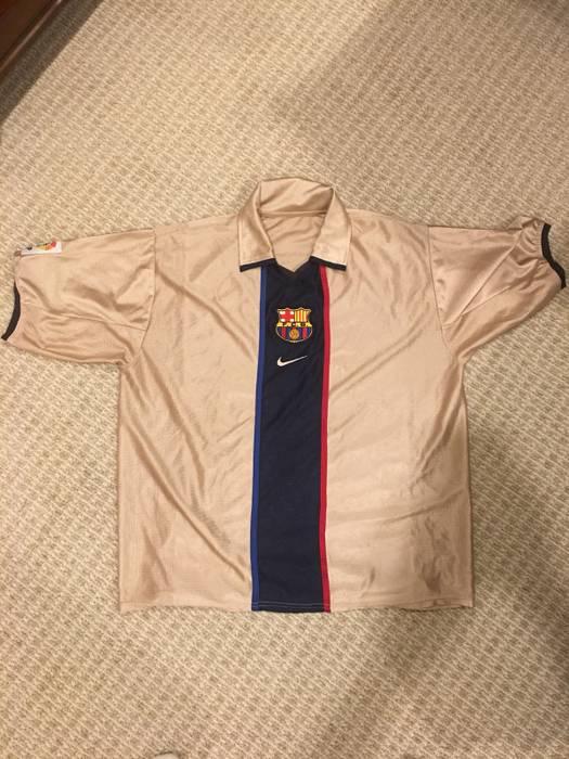 c328dac724b Nike 2001 2003 Barcelona Vintage Soccer Jersey Size l - Jerseys for ...