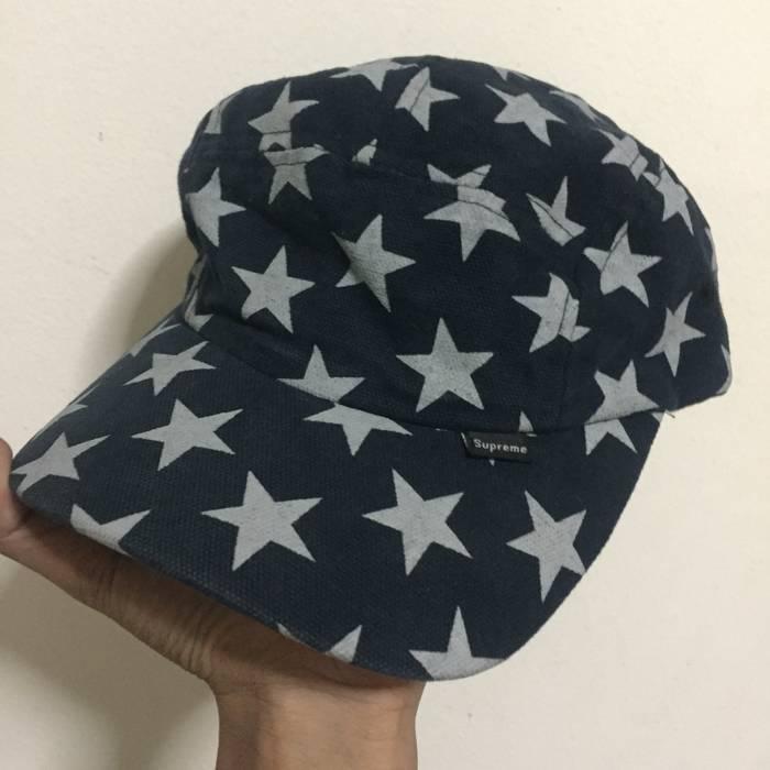 73970060230 Supreme. Vintage 2001 Supreme Star Curved Bill 5 Panel Camp Cap Rare. Size  ONE  SIZE
