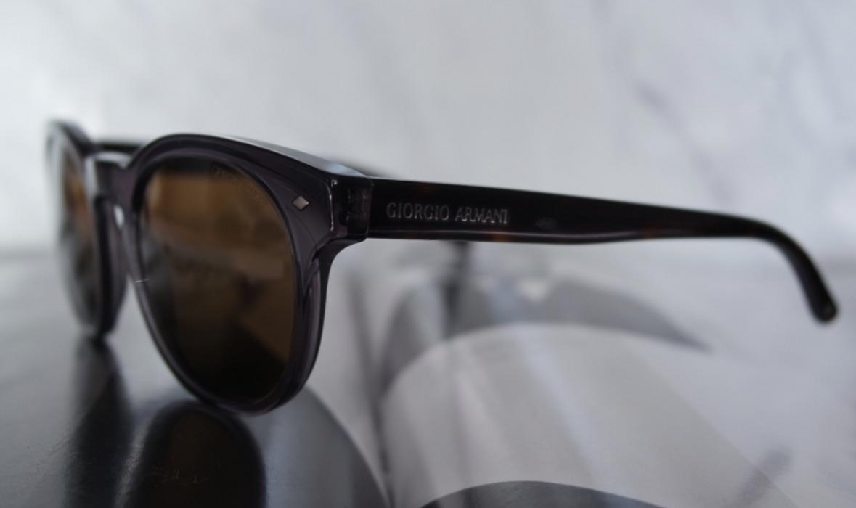 8e1cb83dd69 Giorgio Armani NEW Giorgio Armani Frames of Life Gray Round Sunglasses Size  ONE SIZE - 8