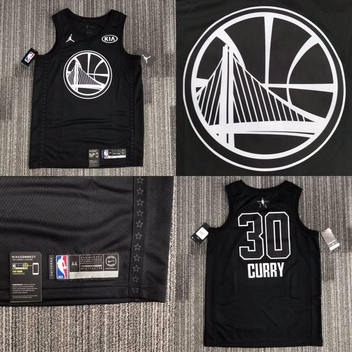 Nike 2018 Nike Jordan Brand Jumpman KIA  30 Stephen Curry Black NBA  Basketball Jersey Mens 067c976a9