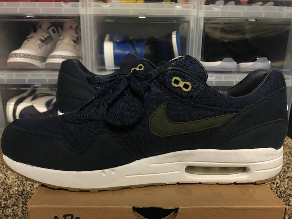 sports shoes fcb5f eeccd Nike VERY RARE Air Maxim 1 (+) NRG A.P.C White Cargo Navy Blue Size