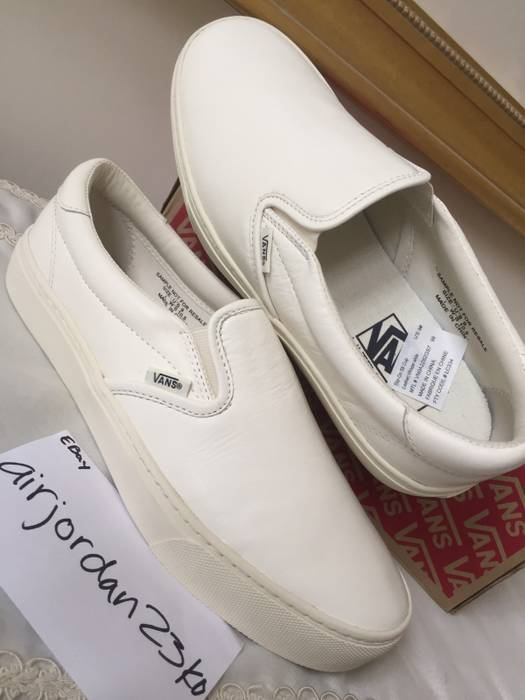 aab07a48acf Vans Sample 59 Cupsole Off White Leather Slip On Ultracush Size US 9   EU 42